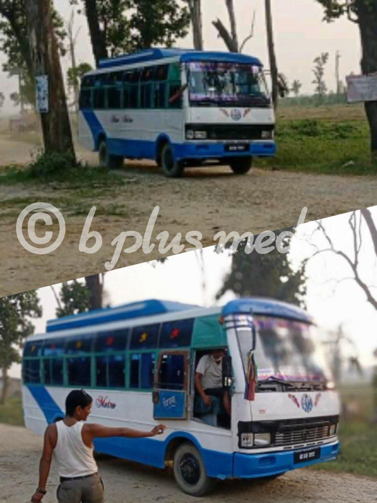 लालझाडी गाउँपालिकामा पहिलो पटक सार्बजनिक बस संचालनमा
