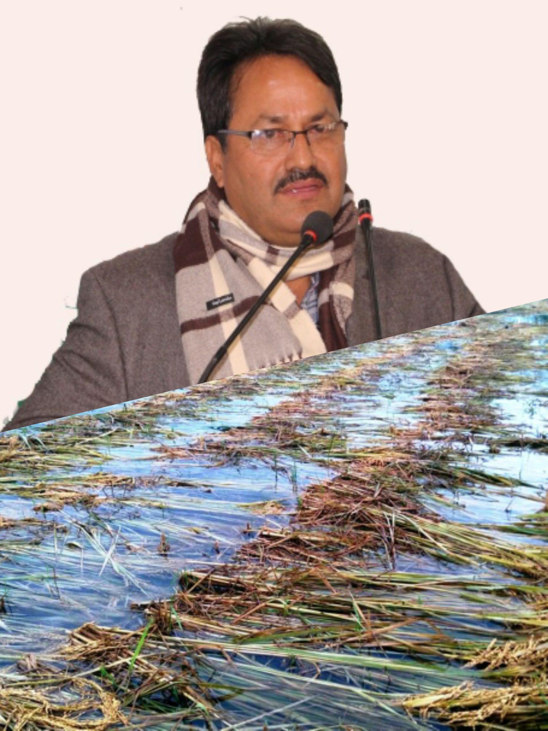 पुर्व सिँचाइ मन्त्री साउँद: बाढीले अन्नबालीमा असर गरेका किसानलाई क्षतिपूर्ति दिन सरकारसँग माग